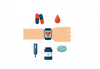 Illustration of wearable healthcare technology
