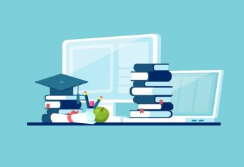 Illustration of online education
