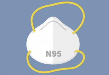 Illustration of N95 mask