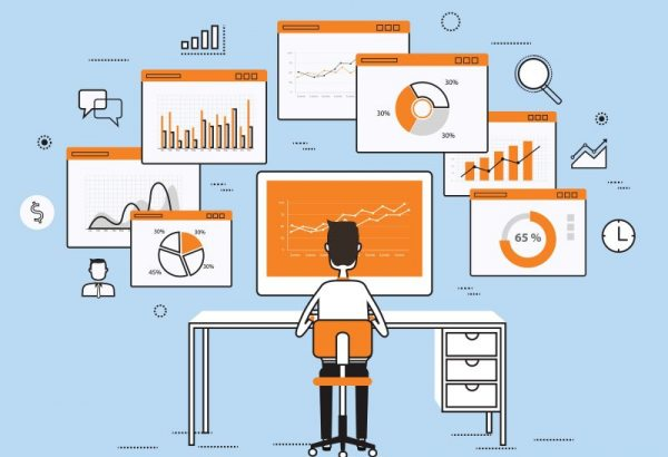 Business analytics illustration